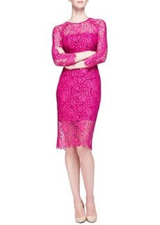 Long-Sleeve Lace Sheath Dress   Long-Sleeve Lace Sheath Dress