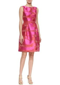 Metallic Space-Dyed Full-Skirt Dress, Pink   Metallic Space-Dyed Full-Skirt Dress, Pink
