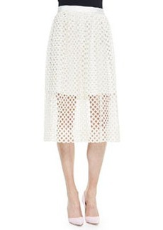 Net Lace Midi Skirt   Net Lace Midi Skirt