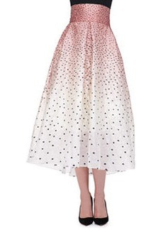 Ombre Embroidered Polka-Dot Skirt   Ombre Embroidered Polka-Dot Skirt