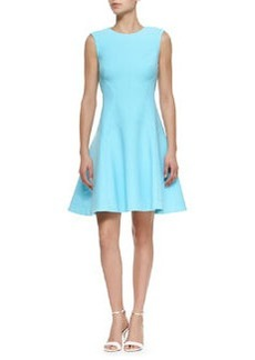 Raised Seam Scuba Dress, Sky   Raised Seam Scuba Dress, Sky
