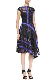 Ribbon-Plaid Draped Dress   Ribbon-Plaid Draped Dress