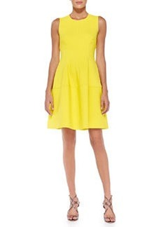 Sleeveless Seamed A-Line Dress   Sleeveless Seamed A-Line Dress