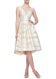 Taffeta Burnout Full-Skirt Dress   Taffeta Burnout Full-Skirt Dress