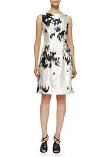 Watercolor Silk Sheath Dress   Watercolor Silk Sheath Dress