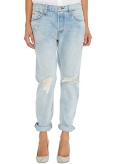 Levi's 501 Ct Customized and Tapered Boyfriend Jean, Light Blue Wash