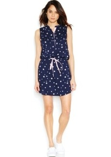 Levi's Band Collar Sleeveless Shirt Dress