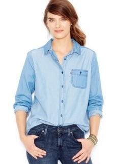 Levi's Colorblocked Chambray Shirt