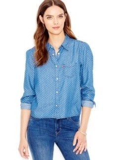 Levi's Cropped Chambray Shirt