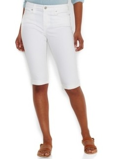 Levi's Cuffed Bermuda Shorts, White Wash