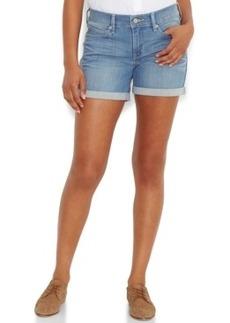 Levi's Cuffed Denim Shorts, Medium Blue Wash