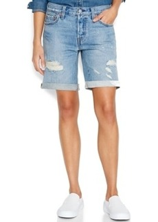 Levi's Juniors' 501 Distressed Bermuda Shorts, Alamo Blue Wash