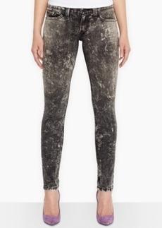 Levi's Juniors' 524 Black Acid Wash Skinny Jeans