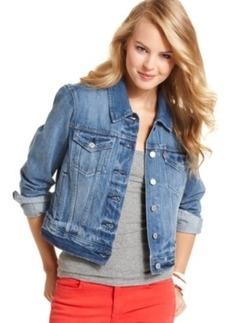 Levi's Juniors Authentic Trucker Denim Jacket, Rosebud Blue Wash