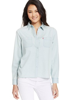 Levi's® Juniors' Chambray Button-Down Top