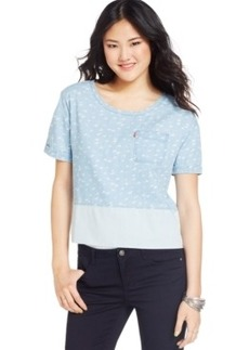Levi's Juniors' Chambray Colorblock Top