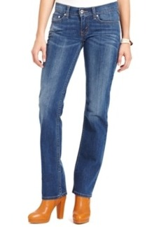 Levi's Juniors' Red 524 Straight Leg Medium Wash Jeans