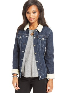 Levi's® Juniors' Sherpa Denim Jacket