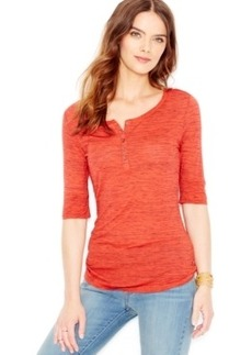 Levi's Marled Short-Sleeve Henley Top