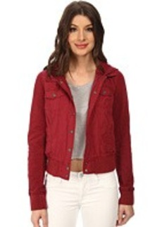 Levi's® Mixed Media Fashion Trucker w/ Jersey Sleeve and Hood