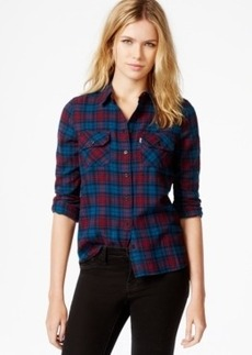 Levi's Plaid Flap-Pocket Boyfriend Shirt