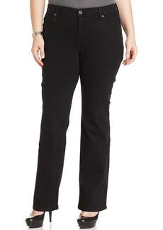Levi's® Plus Size 580 Defined-Waist Straight-Leg Jeans, Black Wash