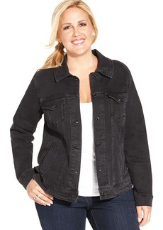 Levi's® Plus Size Denim Jacket, Black Fade Wash