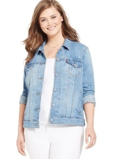 Levi's Plus Size Denim Jacket, Medium Blue Wash