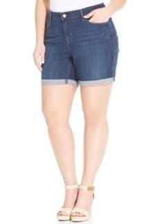 Levi's Plus Size Denim Shorts, Medium Blue Wash