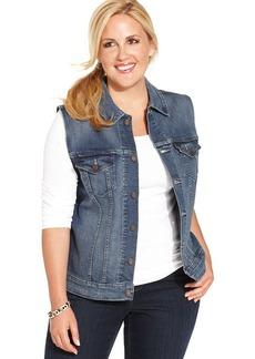 Levi's® Plus Size Denim Vest, Indigo Ash Wash