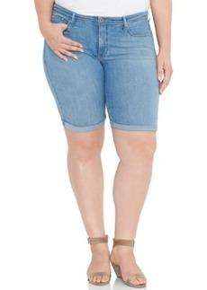 Levi's Plus Size Perfectly Shaping Denim Bermuda Shorts, Pale Mist Wash