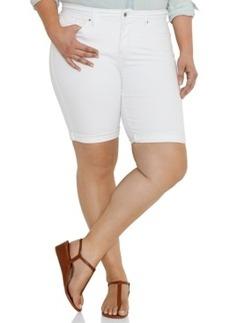 Levi's Plus Size Perfectly Shaping Denim Bermuda Shorts, White Wash