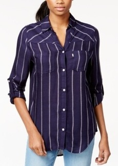 Levi's Striped Roll-Tab-Sleeve Shirt
