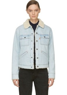 Levi's Vintage Clothing Sky Blue Sherpa Trucker Jacket