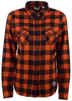 Levi's Women's Chicago Bears Plaid Button-Up Shirt