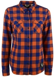 Levi's Women's Denver Broncos Plaid Button-Up Shirt
