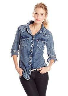 Levi's Women's Distressed Tailored Western Shirt