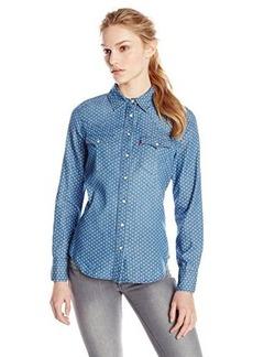 Levi's Women's Dot Print Denim Annie Shirt