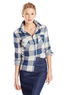 Levi's Women's Double Layered Plaid Roll Cuff Shirt