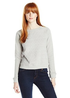 Levi's Women's Heather Fleece Crew with Quilted Front