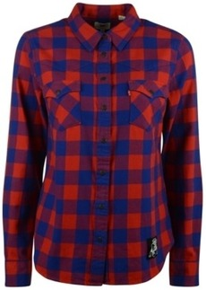 Levi's Women's New England Patriots Plaid Button-Up Shirt