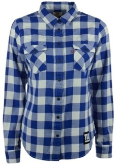 Levi's Women's New York Giants Plaid Button-Up Shirt