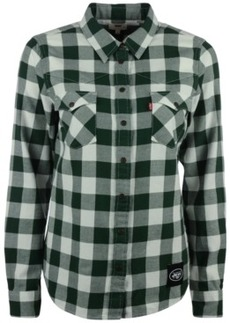 Levi's Women's New York Jets Plaid Button-Up Shirt