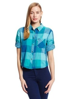 Levi's Women's One Pocket Crop Plaid Shirt