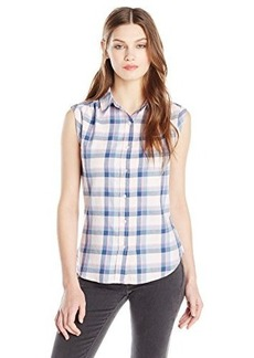 Levi's Women's One Pocket Sleeveless Plaid Shirt