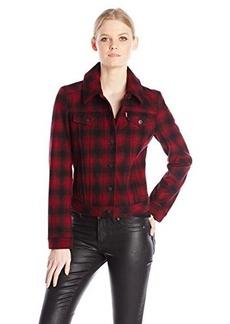 Levi's Women's Plaid Wool Trucker Jacket