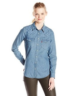 Levi's Women's Quilted Yoke Tailored Western Shirt