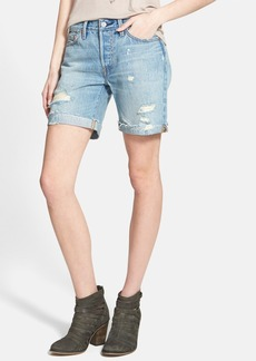 Levi's® '501' Destroyed Cuffed Long Shorts