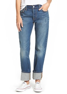 Levi's® 501 'Super Cuff' Boyfriend Jeans (Port Side)