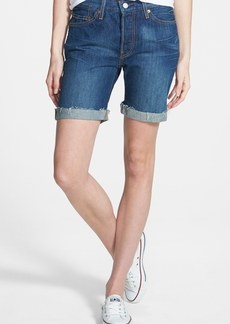 Levi's® 501® Rolled Denim Shorts (Blue)